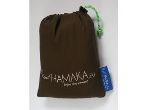 Houpací síť Hamaka double dýňovo-hnědo-dýňová výprodej